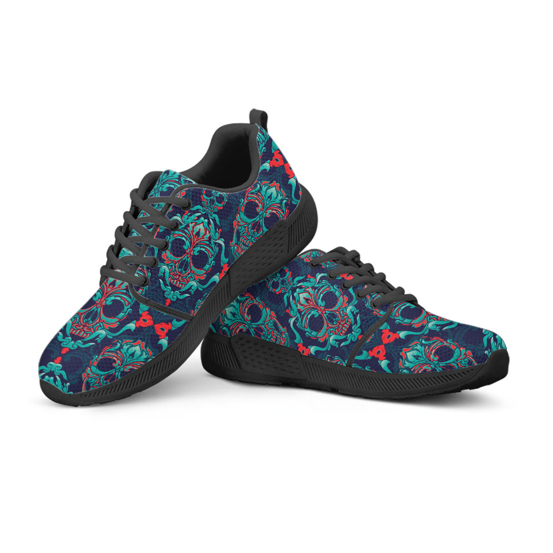 Sugar Skull Athletic Sneakers Black