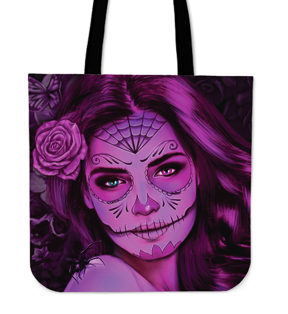 Calavera Girl Cotton Totes