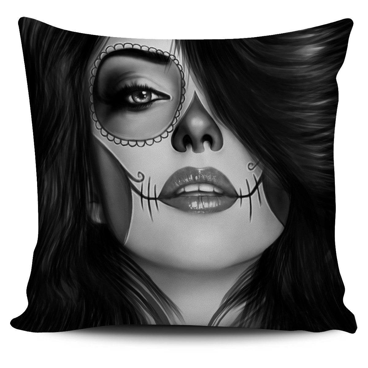Tattoo Calavera Pillow Covers