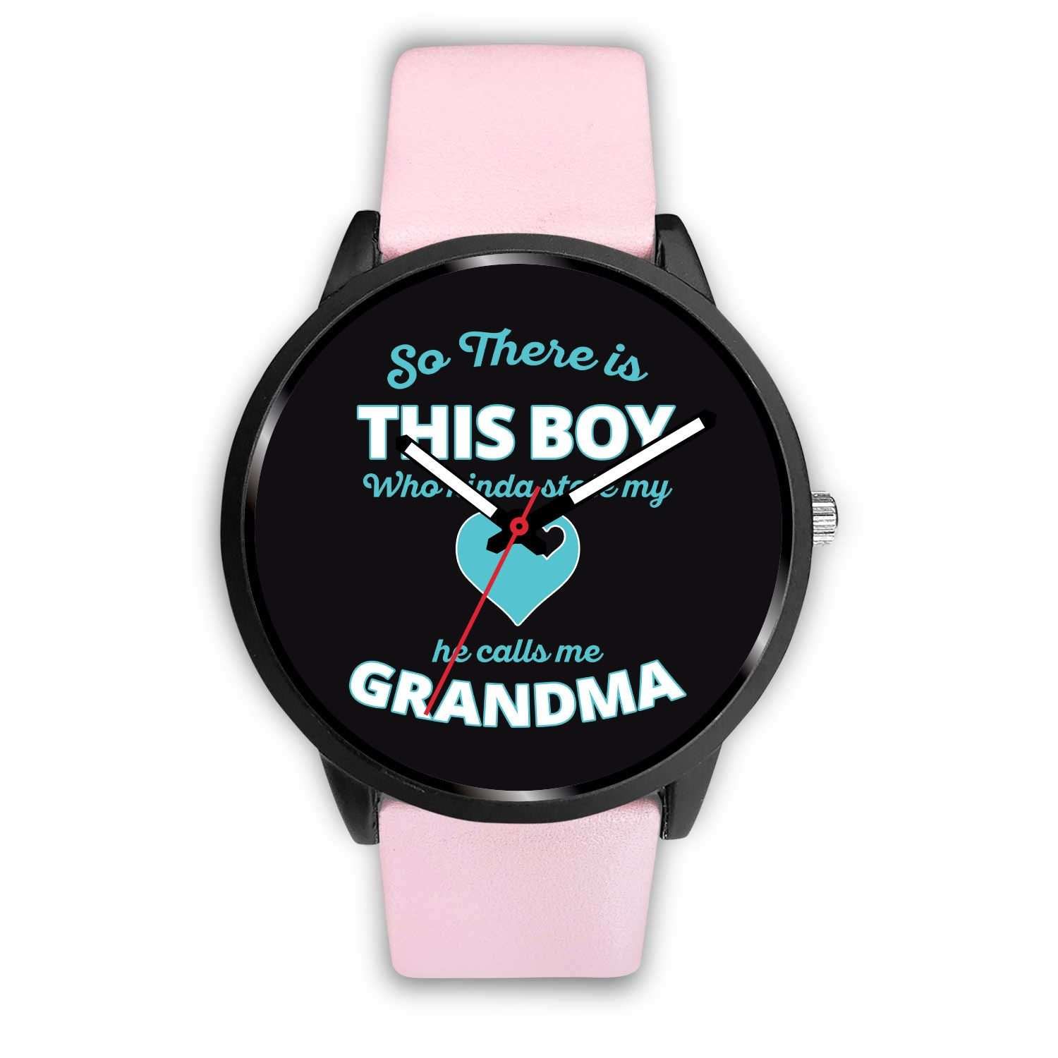 Boy Calls Me Grandma Pink Women's Watch