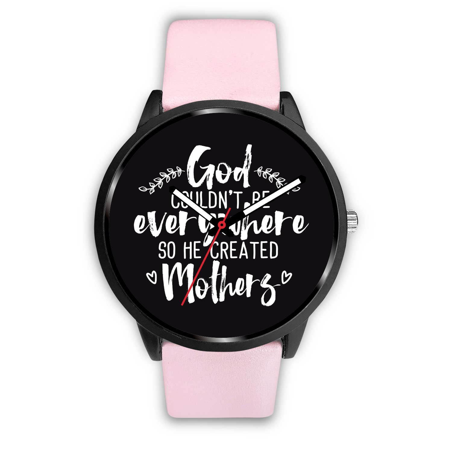 God Created Mothers Pink Women's Watch