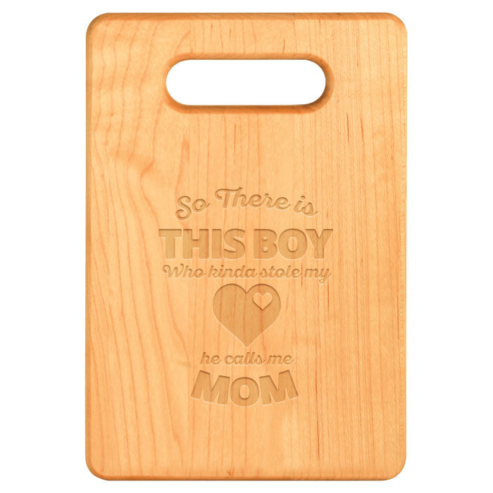 Boy Stole My Heart Maple Cutting Board
