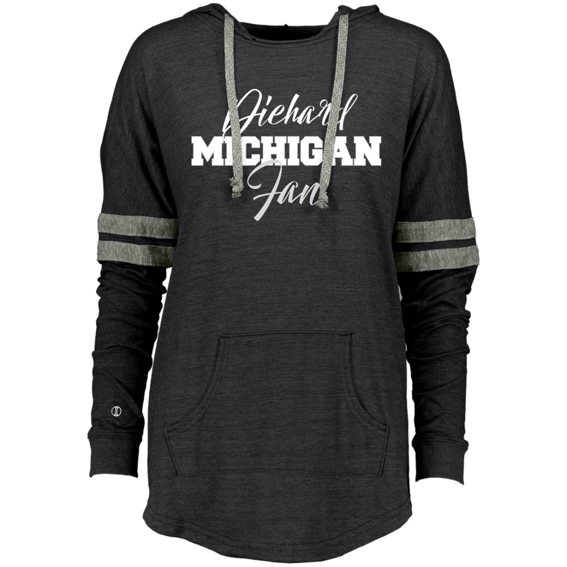 Michigan Holloway Ladies Hooded Low Key Pullover