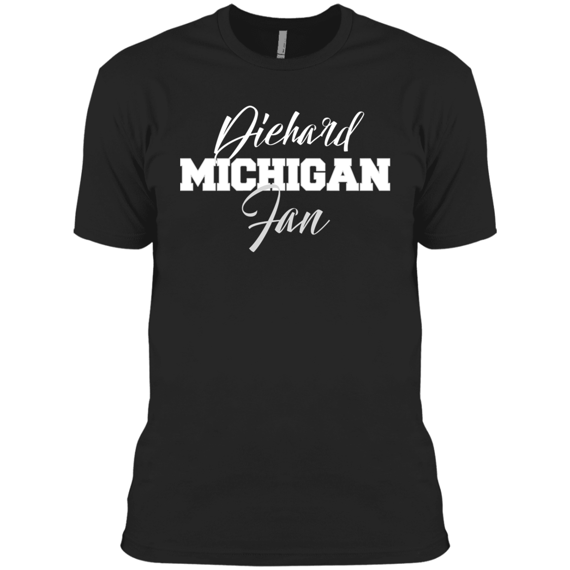 Michigan Next Level Men's Made in USA Cotton T-Shirt