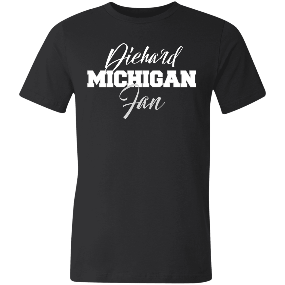 Michigan Bella + Canvas Unisex Made in the USA Jersey Short-Sleeve T-Shirt