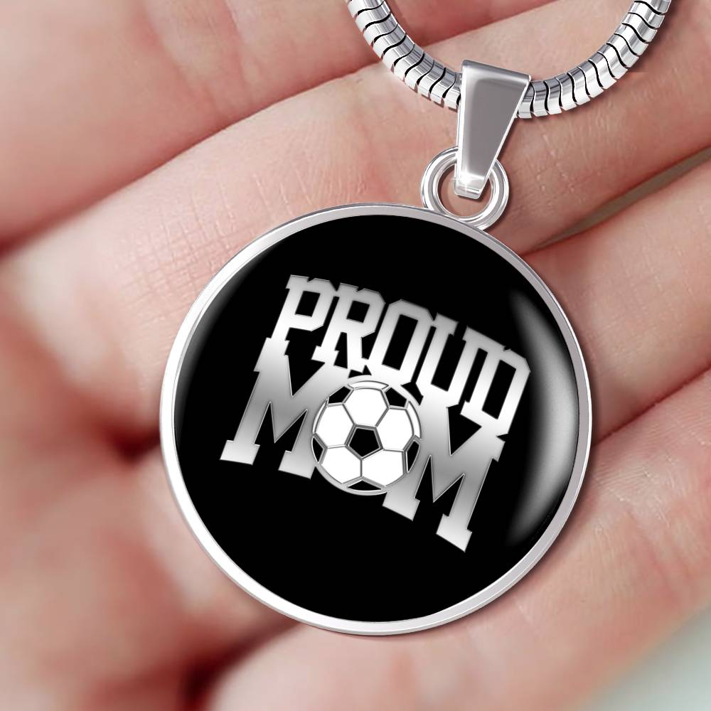 Proud Soccer Mom Luxuary Silver Necklace