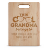 Cool Grandma Personalized Maple Cutting Board
