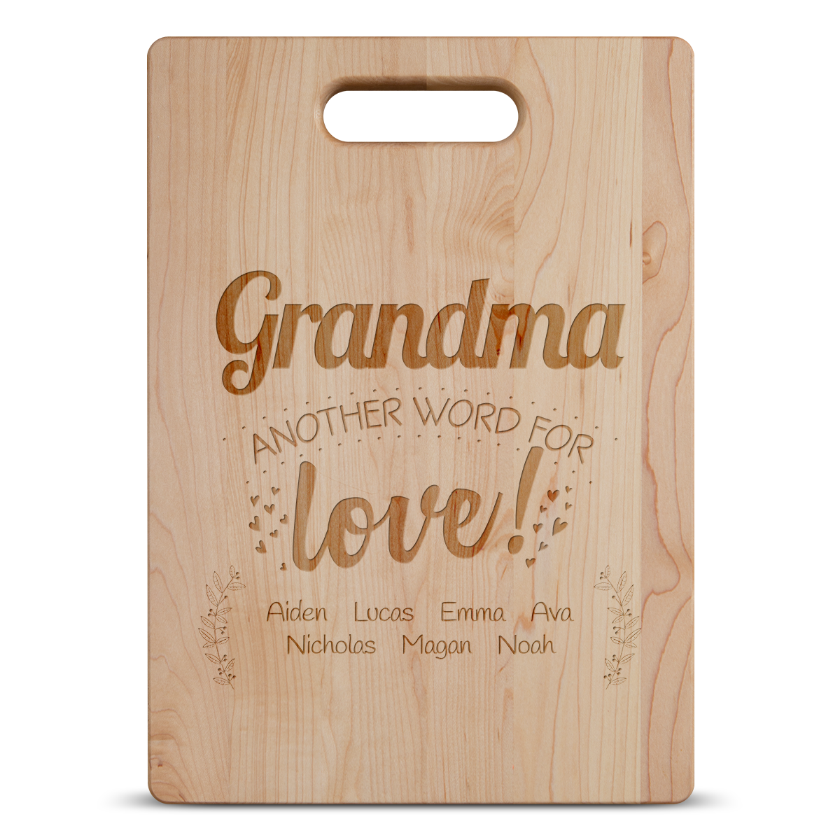 Another Word For Love Personalized Grandma Maple Cutting Board