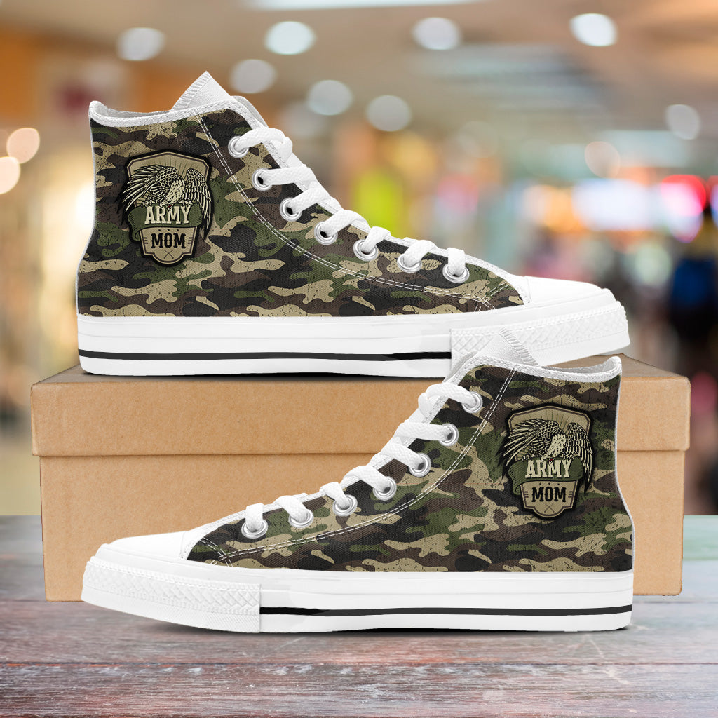 Army Mom High Tops
