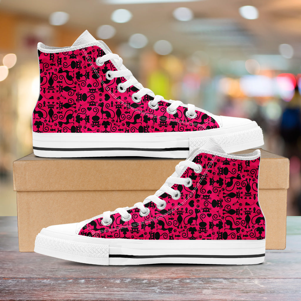 Cats Pink Ladies High Tops