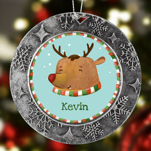 Personalized Christmas Ornament Reindeer Name