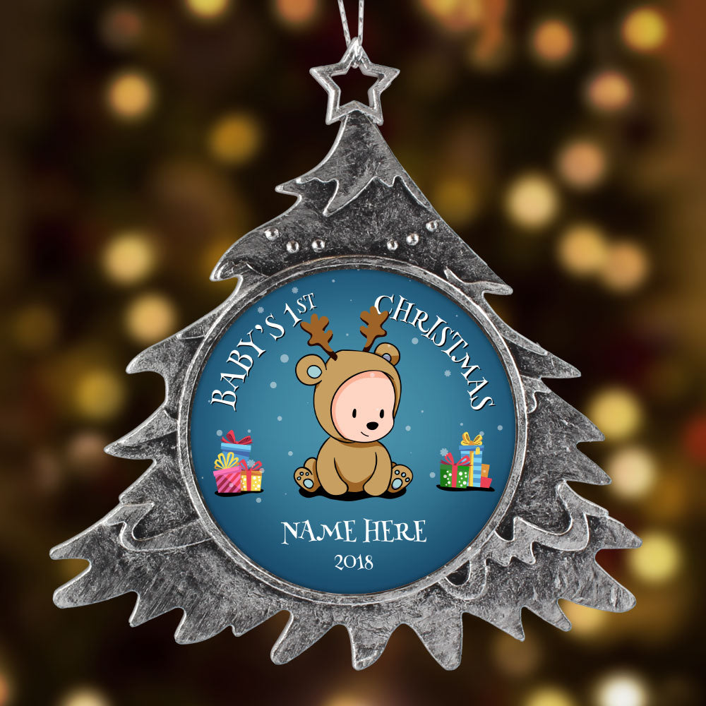 Personalized Christmas Ornament, Baby First Christmas Boy