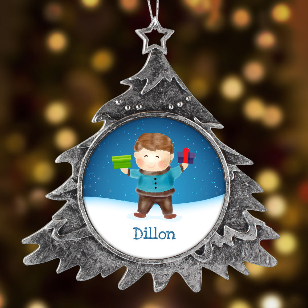 Personalized Christmas Ornament, Boy Name