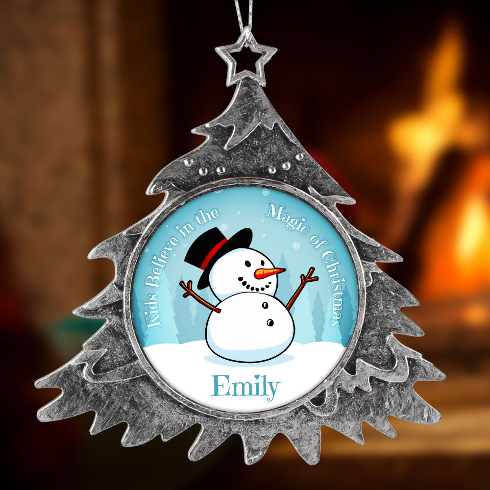 Personalized Christmas Ornament Snowman