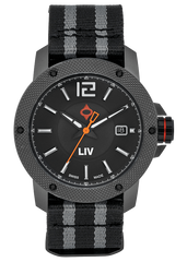 LIV GX Base Swiss 3 Hand | Gray IP Case | Black Dial - LIV Swiss Watches