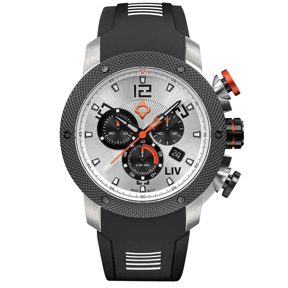 LIV GX1 Caliber 18 Swiss Chrono Steel Silver / White Dial 1220.45.118