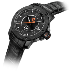 GX1-A Swiss Made Auto Black IP Case | Black Dial & Gray Numbers 1110.42.11 - LIV Swiss Watches