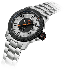 GX1-A Swiss Automatic Steel Case | Silver Dial & Black Numbers 1120.42.18