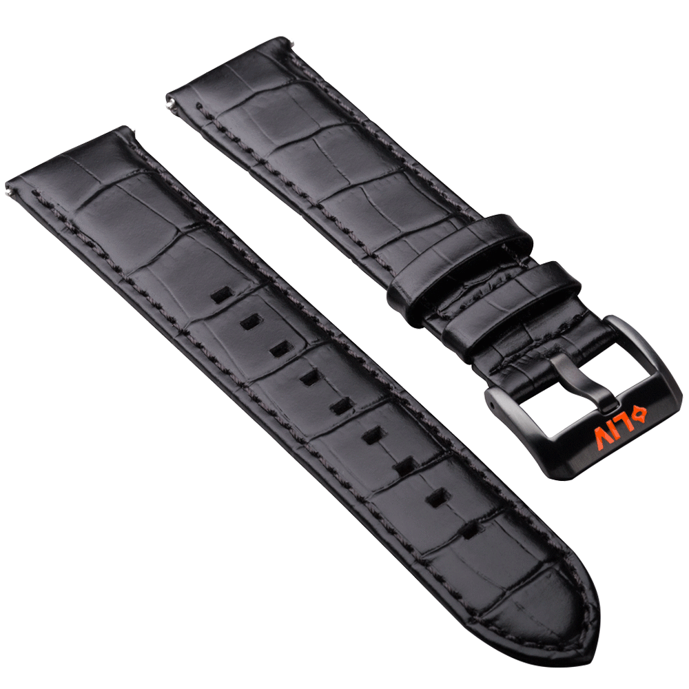 Alligator Grain Leather | 22mm - LIV Swiss Watches
