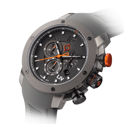 LIV GX1 Swiss Chronograph Gray IP & Gray Numbers 1240.45.113