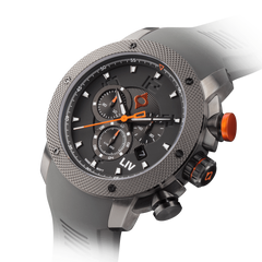 New GX1 Swiss Chronograph Gray IP & Gray Numbers - LIV Swiss Watches
