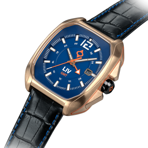Limited Edition Rebel-GMT Swiss Dual Time 24 Hour Rose Gold 4170.49.45