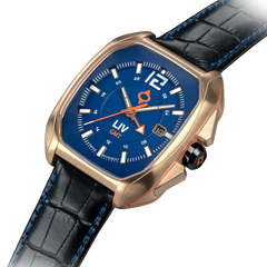 Limited Edition Rebel-GMT Swiss Dual Time 24 Hour Rose Gold 4170.49.45 - LIV Swiss Watches