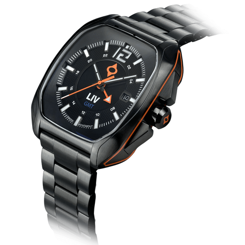 Limited Edition Rebel-GMT Swiss Dual Time 24 Hour Black Dial 4110.49.14