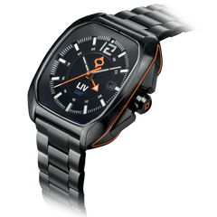 Limited Edition Rebel-GMT Swiss Dual Time 24 Hour Black Dial 4110.49.14 - LIV Swiss Watches