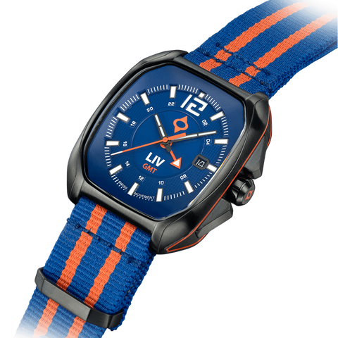 Limited Edition Rebel-GMT Swiss Dual Time 24 Hour Blue Dial 4110.49.40