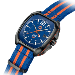 Limited Edition Rebel-GMT Swiss Dual Time 24 Hour Blue Dial 4110.49.40 - LIV Swiss Watches
