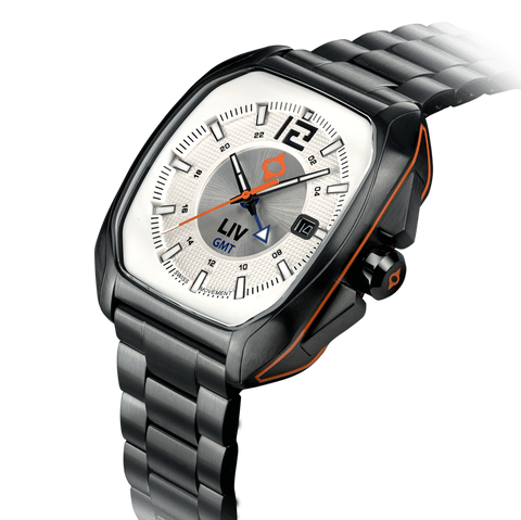 Limited Edition Rebel-GMT Swiss Dual Time 24 Hour White/Silver Dial 4110.49.30