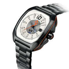 Limited Edition Rebel-GMT Swiss Dual Time 24 Hour White/Silver Dial 4110.49.30 - LIV Swiss Watches