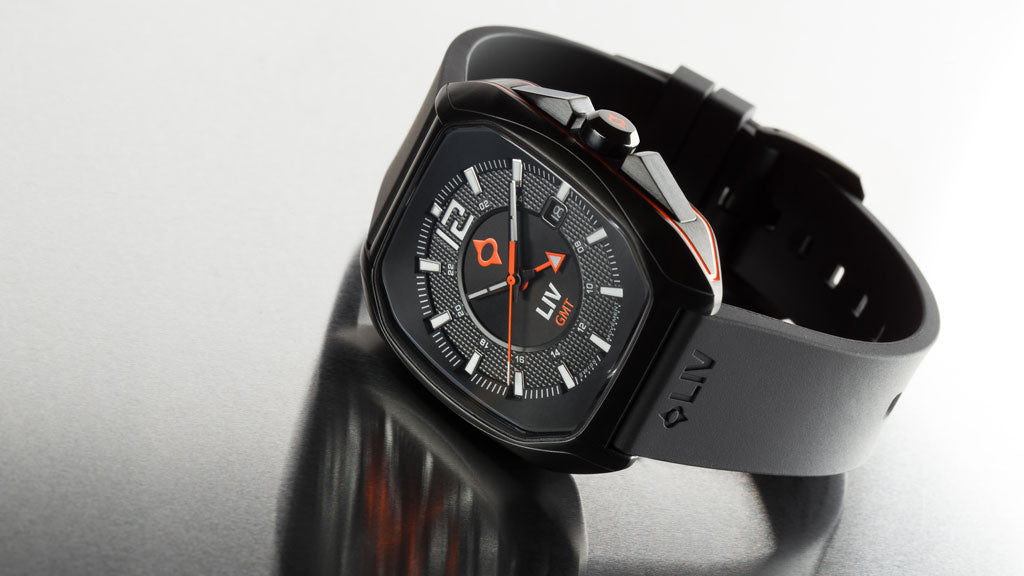 LIV Watches Rebel-GMT Black on silicone