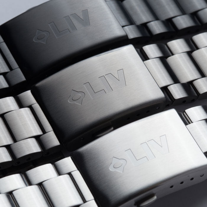 liv watches 23mm stainless steel bracelets