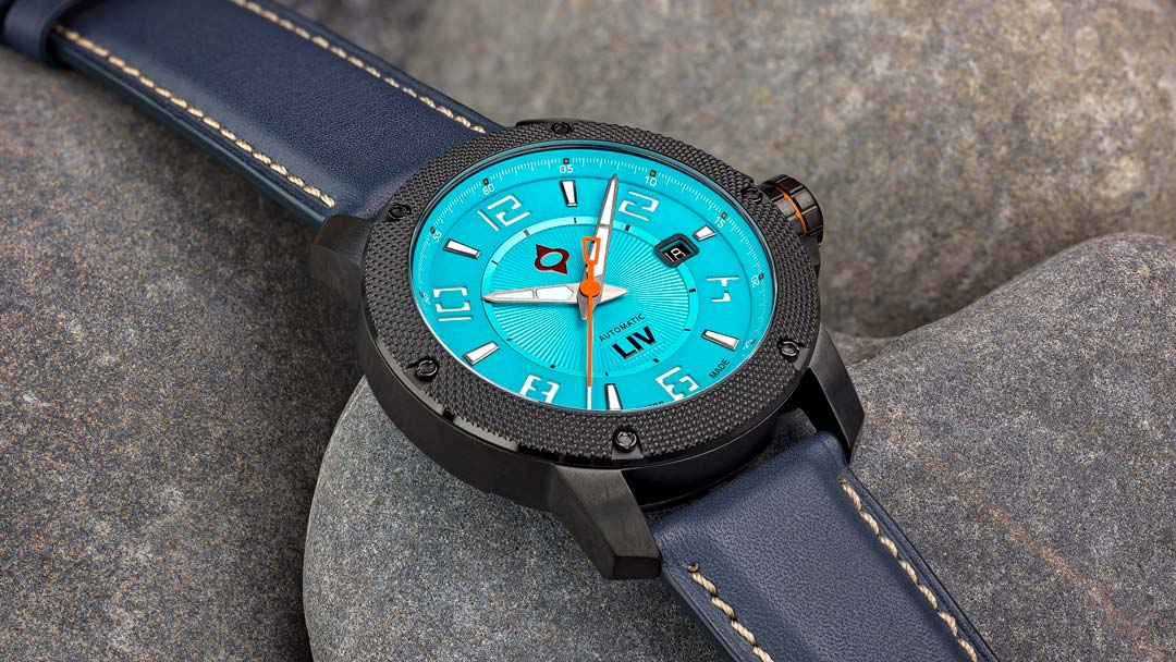 LIV Watches Barenia Blue Leather