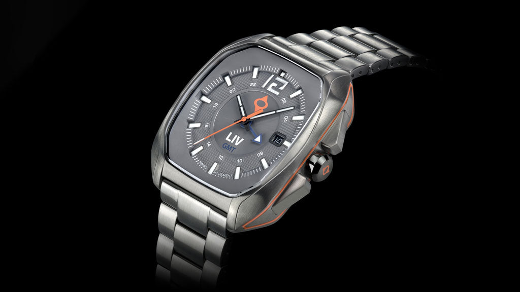 LIV Watches Rebel GMT on steel bracelet