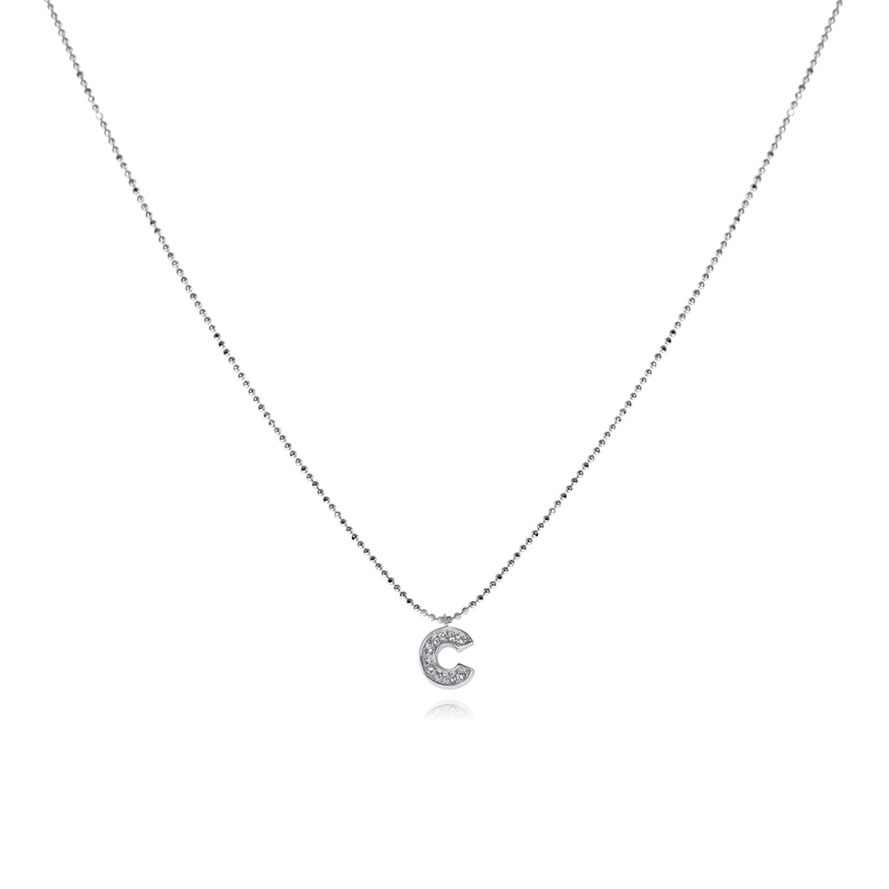 שרשרת C משובצת כסף925 - [collection_title] - tzufa-jewelry-2