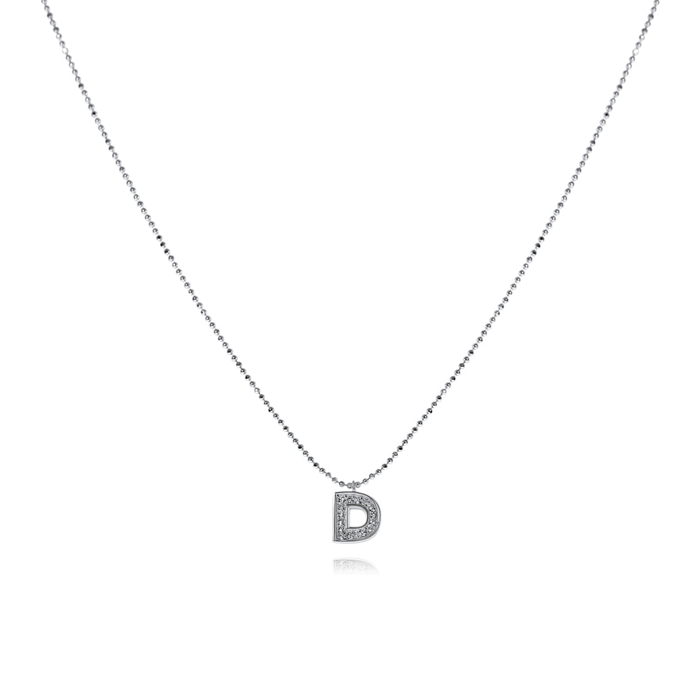 שרשרת D משובצת כסף925 - [collection_title] - tzufa-jewelry-2