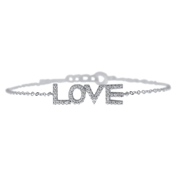 צמיד LOVE משובץ כסף925 - [collection_title] - tzufa-jewelry-2