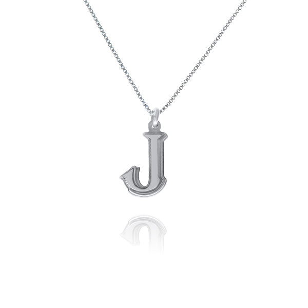 שרשרת אות (J) כסף925 - [collection_title] - tzufa-jewelry-2