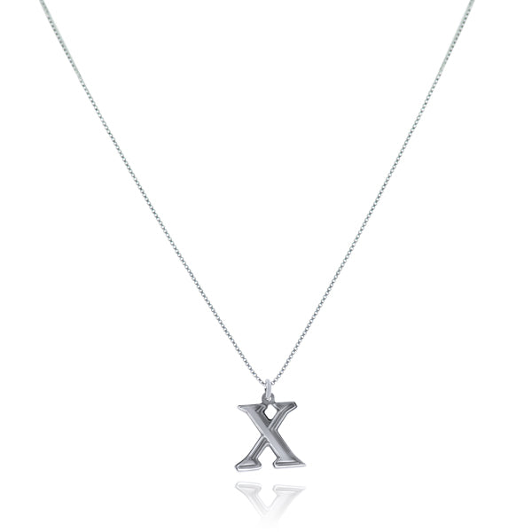 שרשרת אות (X) כסף925 - [collection_title] - tzufa-jewelry-2