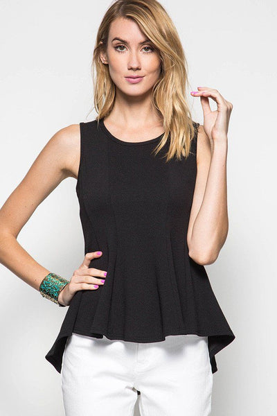 Sleeveless Peplum Top - Available at Celizzione.com
