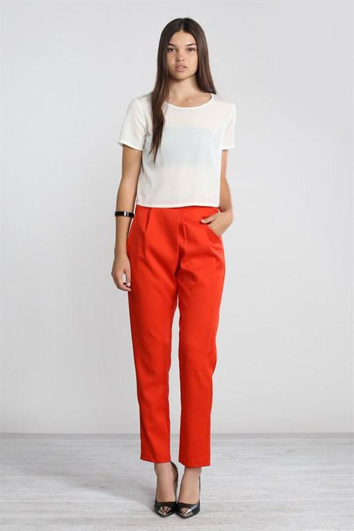 Nikki Pleated Pants - Available at Celizzione.com