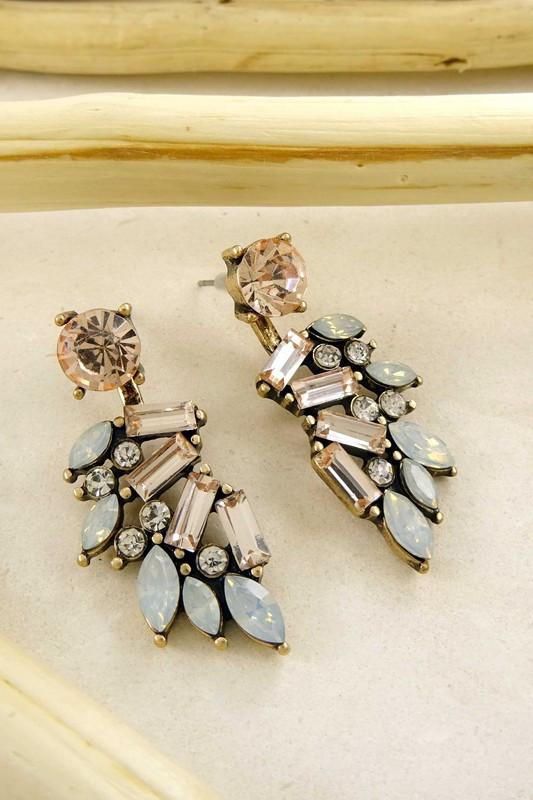 Peach Rock Assembled Earrings available at Celizzione.com