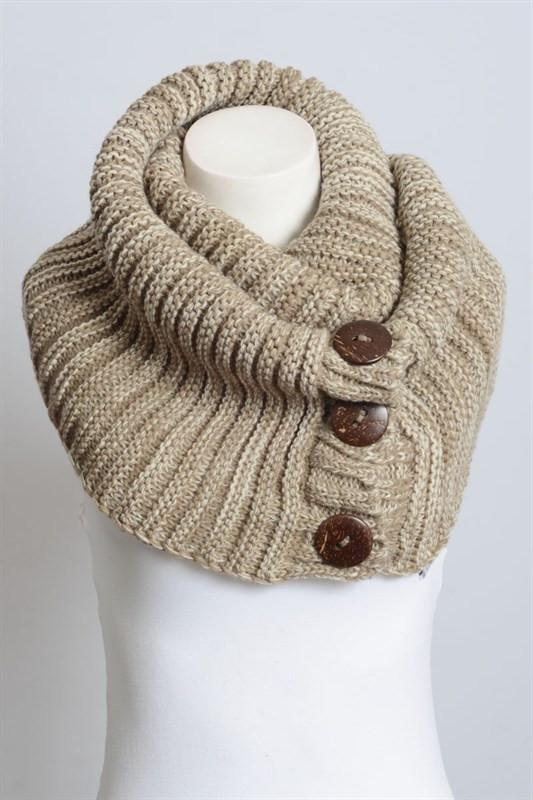 Button Up Scarf - Available at Celizzione.com