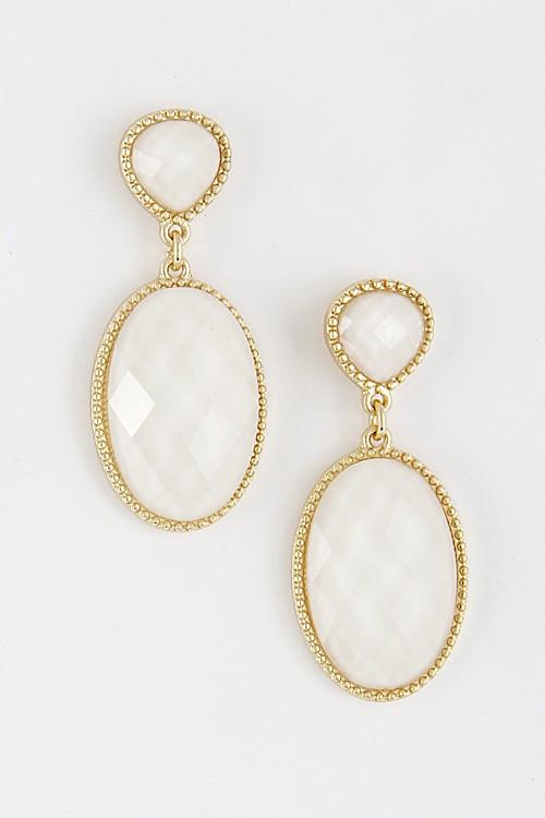 Oval Penelope Earrings - Available at Celizzione.com