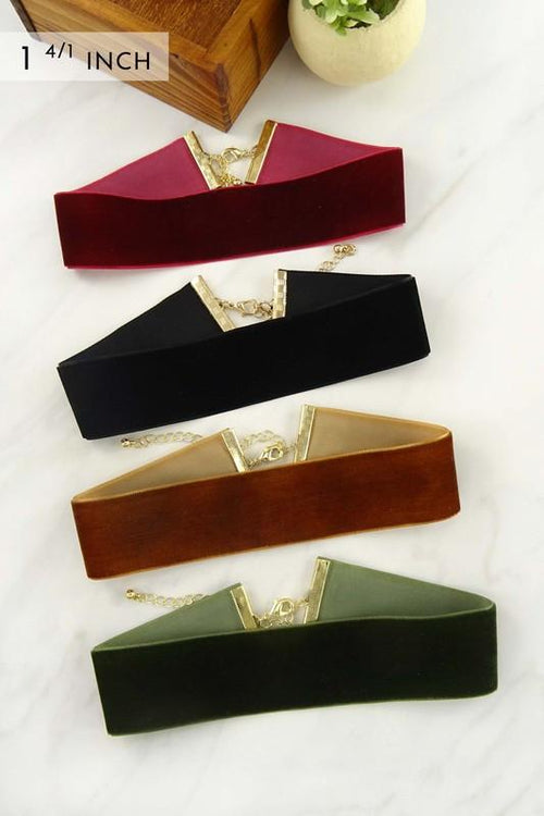 Velvet Band Choker - Available at Celizzione.com