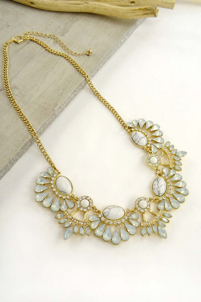 Opal Stones Necklace available at Celizzione.com