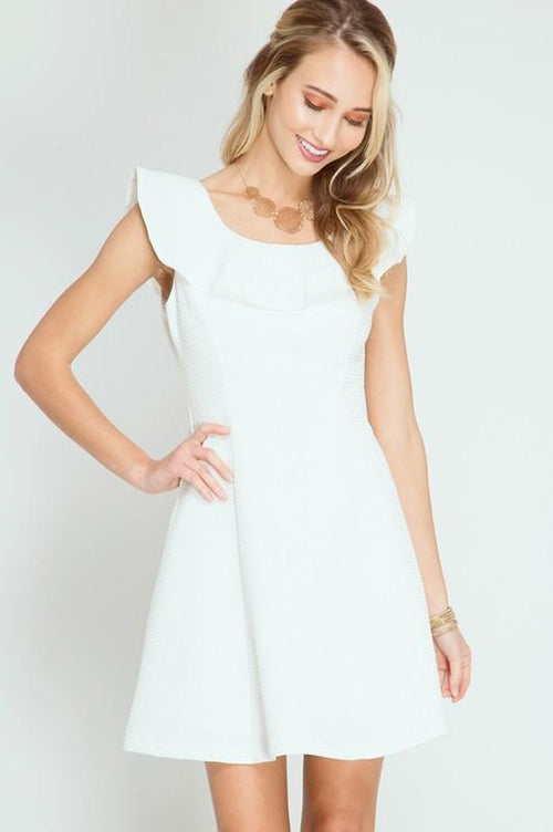 Textured Ruffles Dress - Available at Celizzione.com